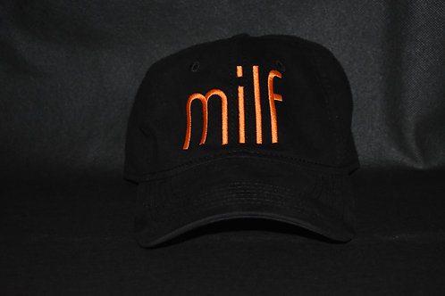 the milf hat - black & orange