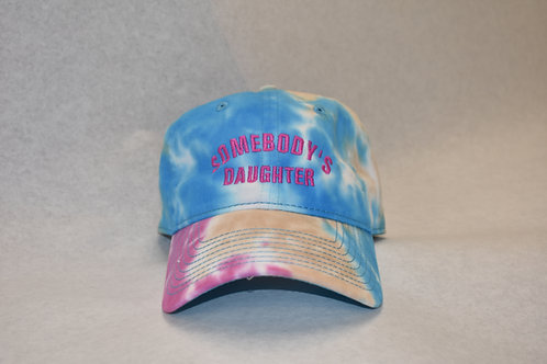 the somebody's daughter hat - blue tie dye