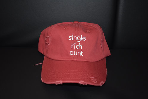 the single rich aunt hat - red