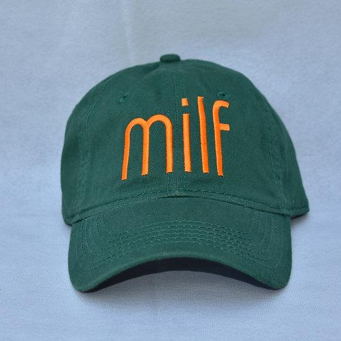 the milf hat - green & orange