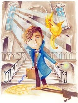Newt Scamander and the Golden Snidget