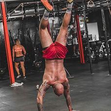 man doing a handstand