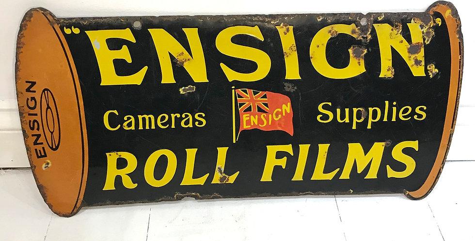c1930's Ensign Die-Cut Enamel Sign