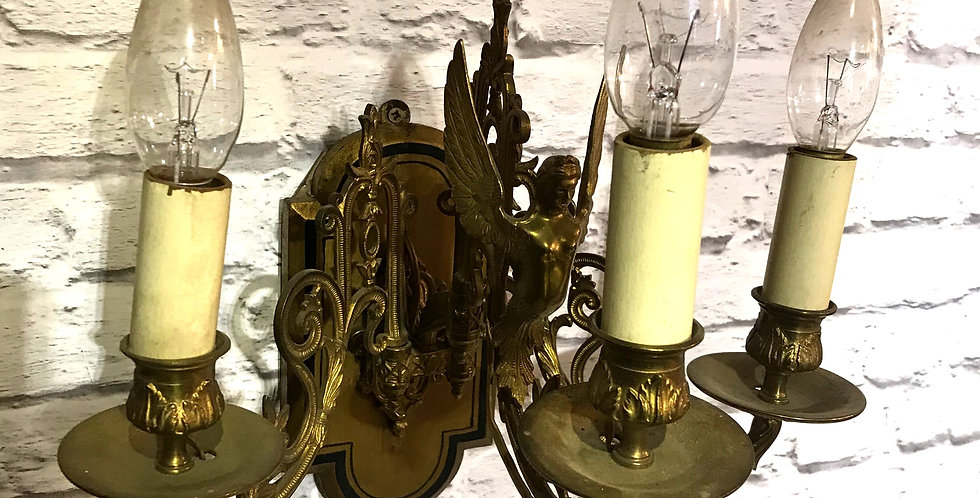 Pair of c.1930s Angel French Wall Lights