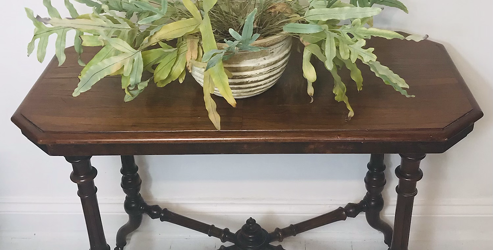 C.1870 Mahogany Aesthetic Movement Window Table