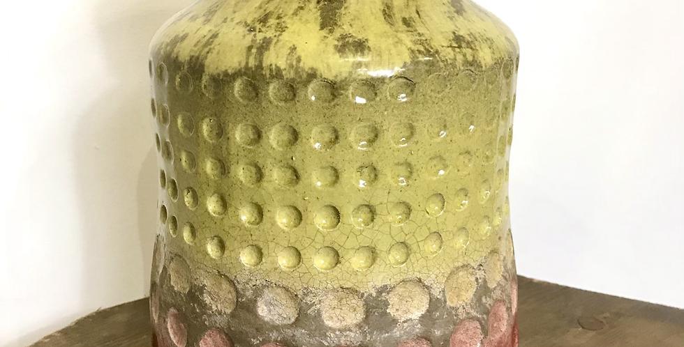 Vintage Dimpled Ceramic Vase