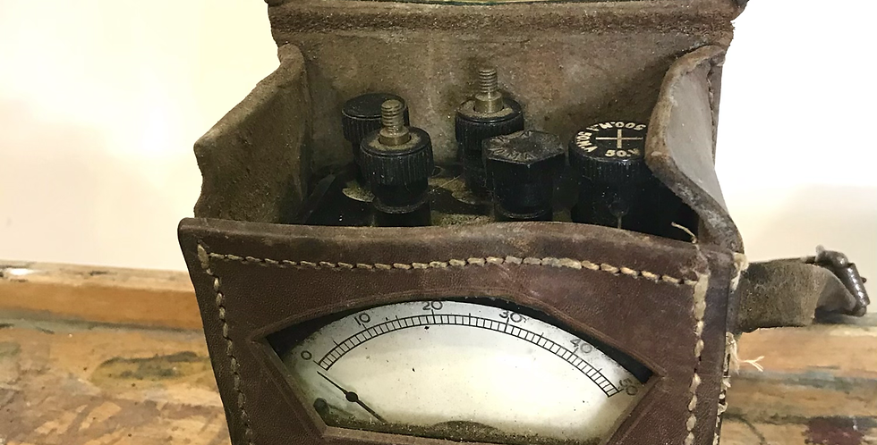 c.1930's-1950's GPO Voltmeter in Leather Case