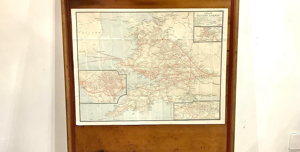 Large early 20th C. Great Western Railway Display Board