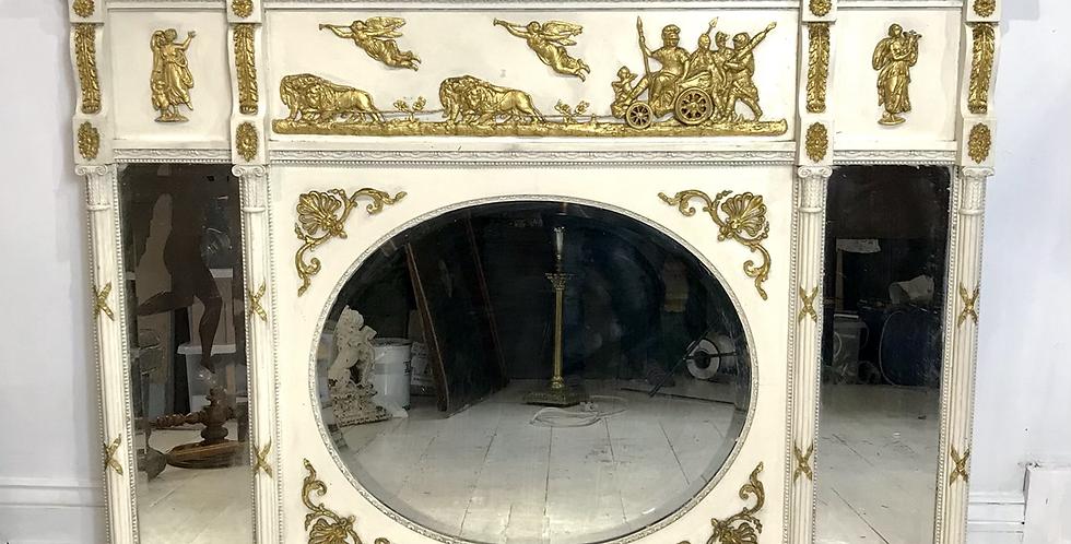 Regency triple plate mirror.