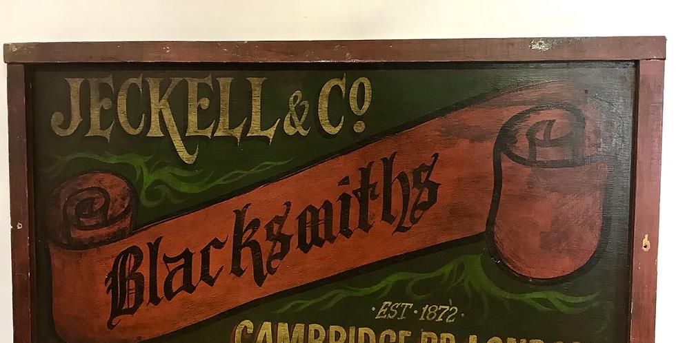 Blacksmith's Sign-writen Trade Sign