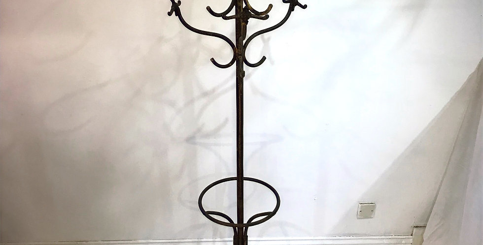c 1900 French Factory Coat Stand.