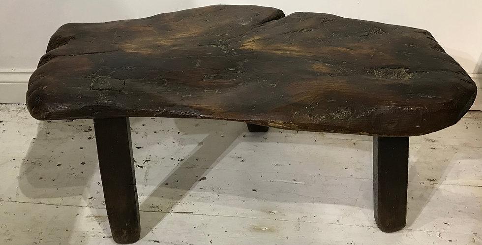 19th Century Rustic Oak Stool