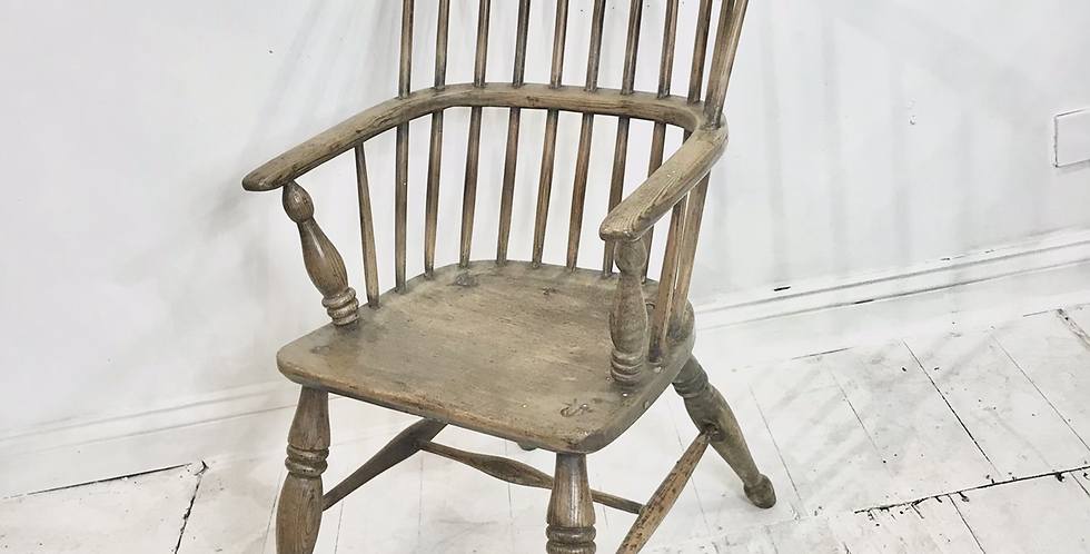 Large 18th Century Comb-back Armchair