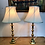 Thumbnail: Pair of Victorian beehive candlesticks converted to lamps