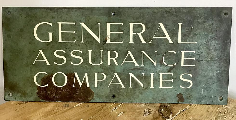 c 1930's Copper sign