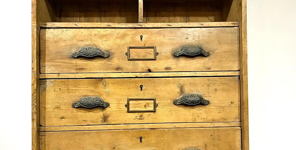 Victorian Pine Kitchen Wall Unit