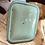 Thumbnail: C.1930's Green Enamel Bread Bin