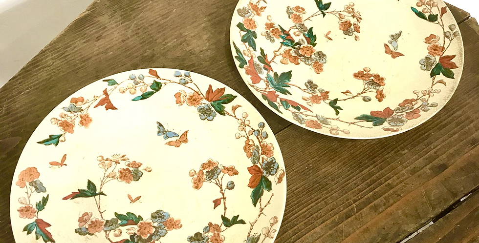 Victorian Plates with Butterflies