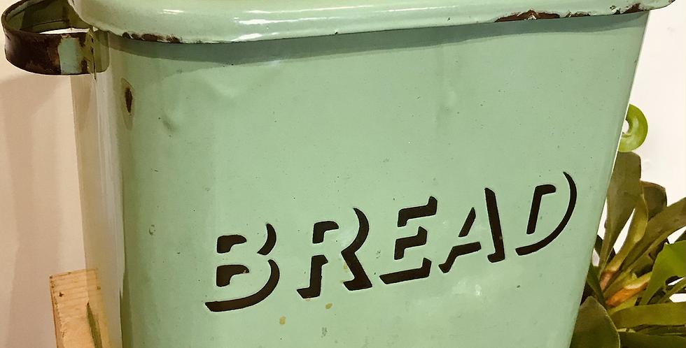 C.1930's Green Enamel Bread Bin