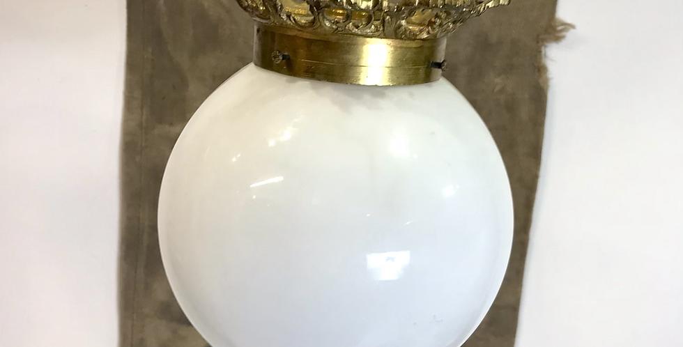 c. 1930's Opaline Globe Pendant Light