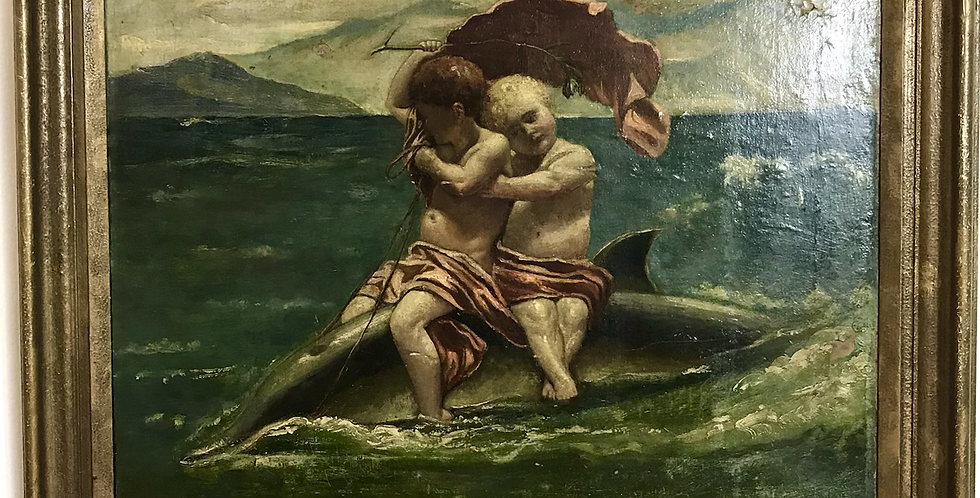 Classical 19th C. Italian Oil On Canvas