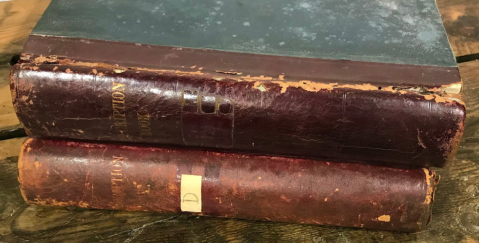 1940's Leather-bound Pharmacy Prescription Bookn Book