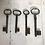 Thumbnail: Set of 4 Vintage French Keys
