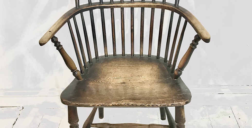 West Country Elm and Ash Hoop-back Armchair c.1800-1820