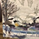 Thumbnail: Oil on Board Painting of Snowy Landscape