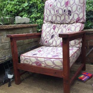 Hand made gareden chair