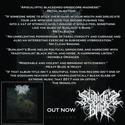 Sunlights Bane The Blackest Volume out now!