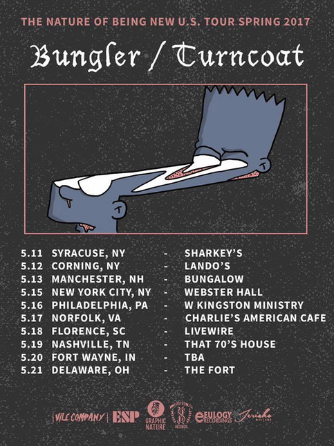 Bungler Spring tour with Turncoat