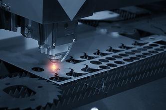 The CNC laser cut machine while cutting