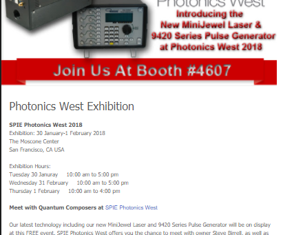 Join Us at Photonics West!