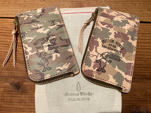 Button Works / ボタンワークス Camouflage Card Case