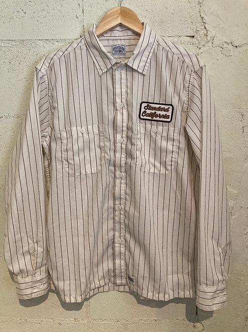 Standard California / スタンダードカリフォルニア SD T/C Stripe Work Shirts Long SLeeve