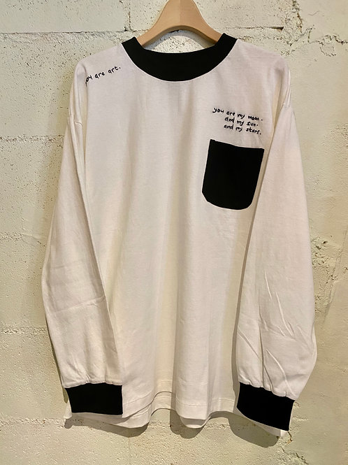 O.K./オーケー Embroidery Ringer L/S Tee