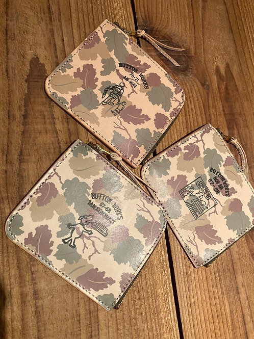 Button Works / ボタンワークス Camouflage Wallet