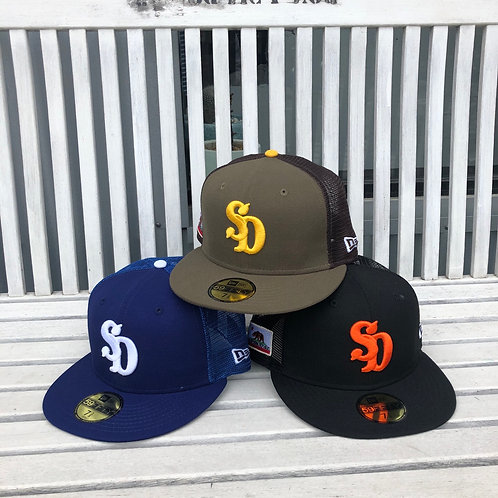 STANDARD CALIFORNIA/スタンダードカリフォルニア NEW ERA × SD 59 FIFTY Logo Mesh Cap