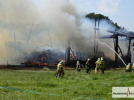 F4;R1 - Götzis; Ried; Bauernhof Kathan - Gebäudebrand