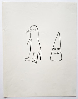 cone and bird