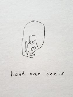 over heels