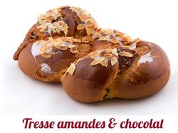 Tresse amandes et chocolats
