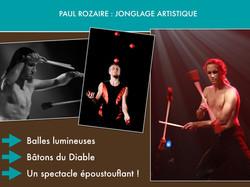 Paul Rozaire, jonglage artistique