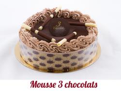 Mousse 3 chocolats