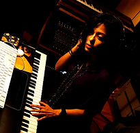 Bollywood Composer/ Music Producer Sawan Dutta working in her studio