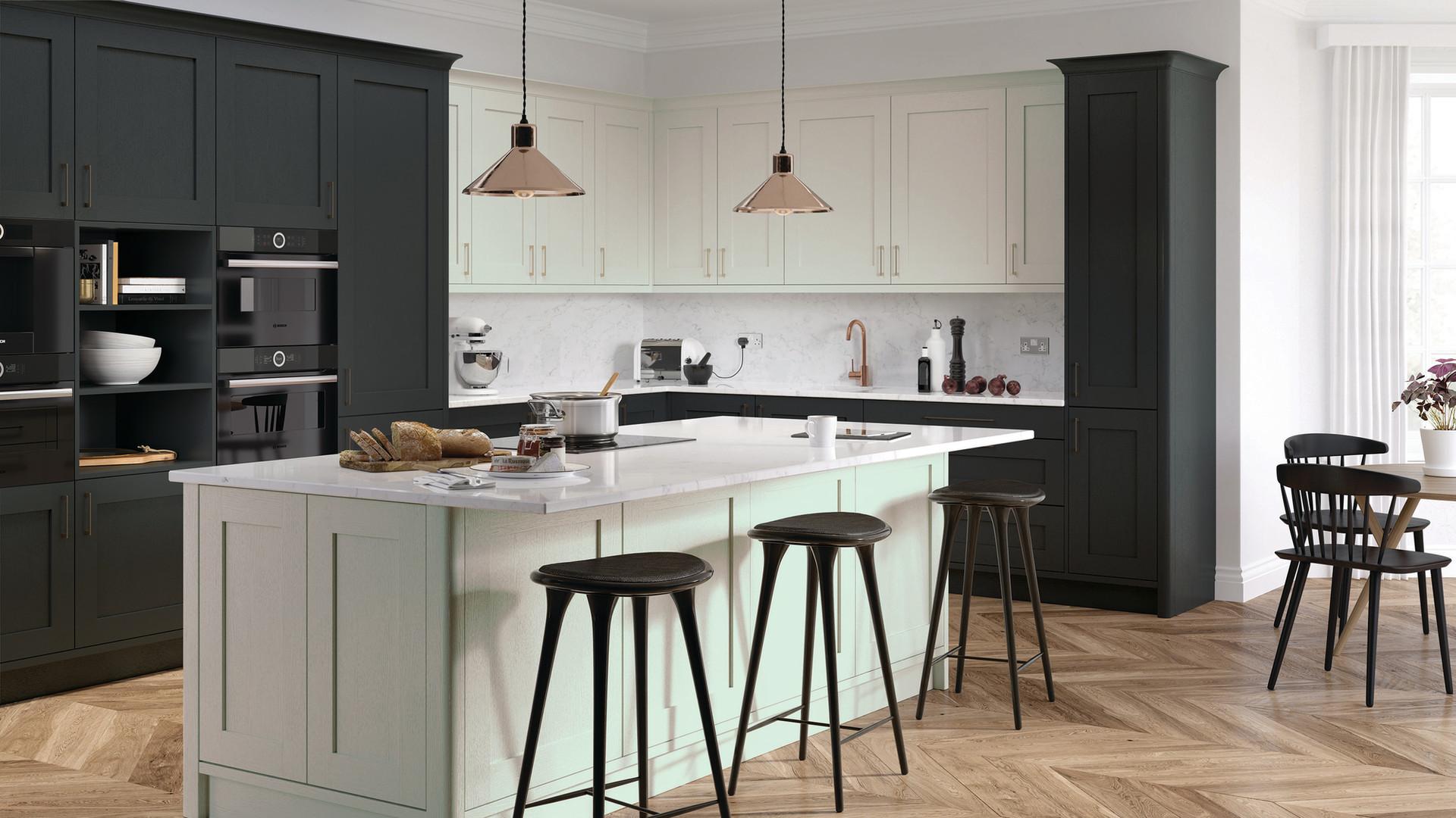Hadley Dove Grey and Graphite Kitchen Sm