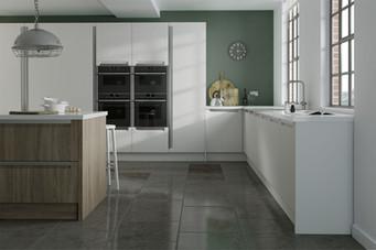 Create Kitchen - Manhattan White Smooth