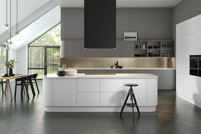 Vision Kitchen - Supermatt Frost White &
