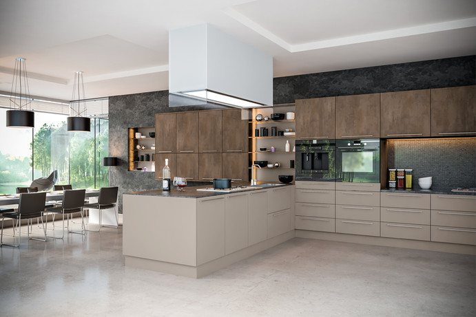 Grey Brown Metallo Stone Grey Kitchen.jp